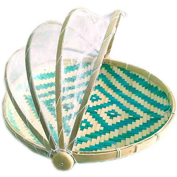 Pattern Basket Green