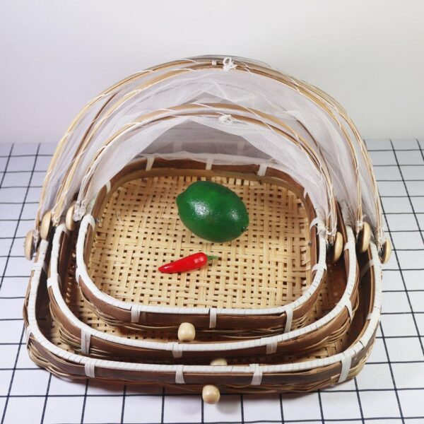 Willow and Bamboo Covered Basket